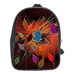 Colorful Leaves School Bags (XL)