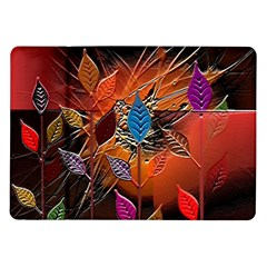 Colorful Leaves Samsung Galaxy Tab 10.1  P7500 Flip Case