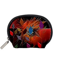 Colorful Leaves Accessory Pouches (Small)