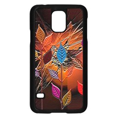 Colorful Leaves Samsung Galaxy S5 Case (Black)
