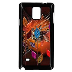 Colorful Leaves Samsung Galaxy Note 4 Case (Black)