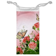 Flora Butterfly Roses Jewelry Bag