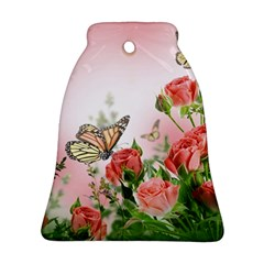 Flora Butterfly Roses Ornament (Bell)
