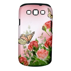 Flora Butterfly Roses Samsung Galaxy S III Classic Hardshell Case (PC+Silicone)
