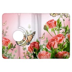 Flora Butterfly Roses Kindle Fire HDX Flip 360 Case