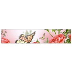 Flora Butterfly Roses Flano Scarf (Small)