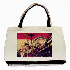Pink City Retro Vintage Futurism Art Basic Tote Bag (Two Sides)
