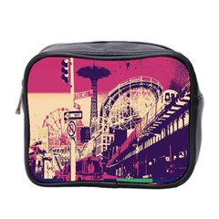 Pink City Retro Vintage Futurism Art Mini Toiletries Bag 2-Side