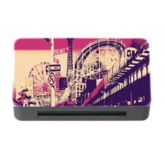 Pink City Retro Vintage Futurism Art Memory Card Reader with CF