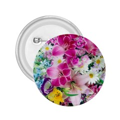 Colorful Flowers Patterns 2.25  Buttons