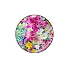 Colorful Flowers Patterns Hat Clip Ball Marker (10 pack)