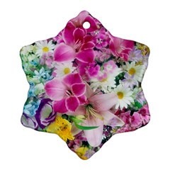 Colorful Flowers Patterns Ornament (Snowflake)