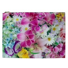 Colorful Flowers Patterns Cosmetic Bag (XXL)