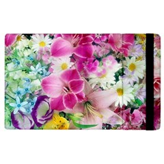 Colorful Flowers Patterns Apple iPad 3/4 Flip Case