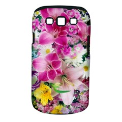 Colorful Flowers Patterns Samsung Galaxy S III Classic Hardshell Case (PC+Silicone)