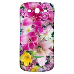 Colorful Flowers Patterns Samsung Galaxy S3 S III Classic Hardshell Back Case