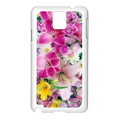 Colorful Flowers Patterns Samsung Galaxy Note 3 N9005 Case (White)