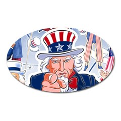 Independence Day United States Of America Oval Magnet