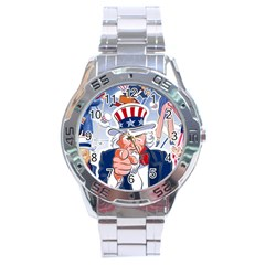 Independence Day United States Of America Stainless Steel Analogue Watch