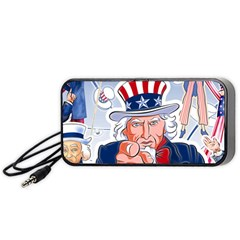 Independence Day United States Of America Portable Speaker (Black)