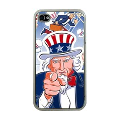 Independence Day United States Of America Apple iPhone 4 Case (Clear)