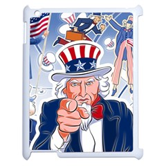 Independence Day United States Of America Apple iPad 2 Case (White)
