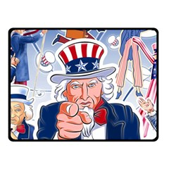Independence Day United States Of America Double Sided Fleece Blanket (Small)