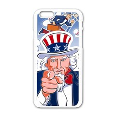 Independence Day United States Of America Apple iPhone 6/6S White Enamel Case