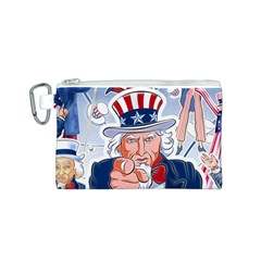 Independence Day United States Of America Canvas Cosmetic Bag (S)