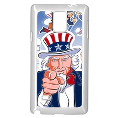 Independence Day United States Of America Samsung Galaxy Note 4 Case (White)