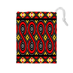 Toraja Traditional Art Pattern Drawstring Pouches (Large)
