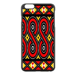 Toraja Traditional Art Pattern Apple iPhone 6 Plus/6S Plus Black Enamel Case