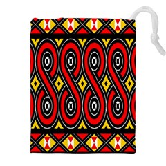 Toraja Traditional Art Pattern Drawstring Pouches (XXL)