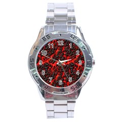 Volcanic Textures(1) Stainless Steel Analogue Watch