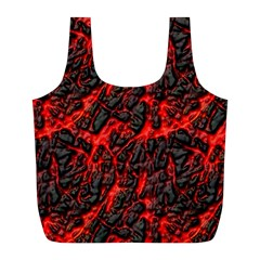 Volcanic Textures(1) Full Print Recycle Bags (L)