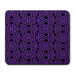 Triangle Knot Purple And Black Fabric Large Mousepads