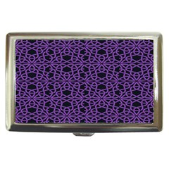 Triangle Knot Purple And Black Fabric Cigarette Money Cases