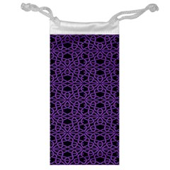 Triangle Knot Purple And Black Fabric Jewelry Bag