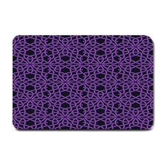 Triangle Knot Purple And Black Fabric Small Doormat