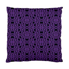 Triangle Knot Purple And Black Fabric Standard Cushion Case (Two Sides)