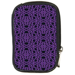 Triangle Knot Purple And Black Fabric Compact Camera Cases