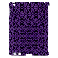 Triangle Knot Purple And Black Fabric Apple iPad 3/4 Hardshell Case (Compatible with Smart Cover)