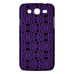 Triangle Knot Purple And Black Fabric Samsung Galaxy Mega 5.8 I9152 Hardshell Case