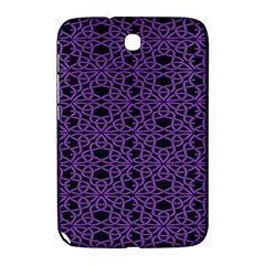 Triangle Knot Purple And Black Fabric Samsung Galaxy Note 8.0 N5100 Hardshell Case
