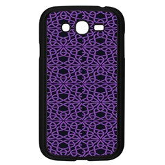 Triangle Knot Purple And Black Fabric Samsung Galaxy Grand DUOS I9082 Case (Black)