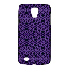 Triangle Knot Purple And Black Fabric Galaxy S4 Active