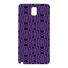 Triangle Knot Purple And Black Fabric Samsung Galaxy Note 3 N9005 Hardshell Back Case