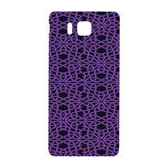 Triangle Knot Purple And Black Fabric Samsung Galaxy Alpha Hardshell Back Case