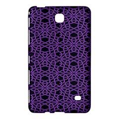 Triangle Knot Purple And Black Fabric Samsung Galaxy Tab 4 (7 ) Hardshell Case