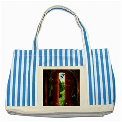 Beautiful World Entry Door Fantasy Striped Blue Tote Bag